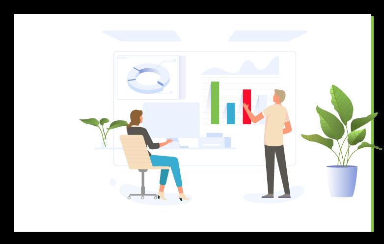 Sociala medier rapporter och analysverktyg illustration