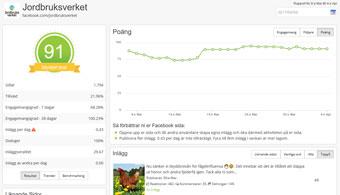 Analys av Facebooksida med nyckeltal