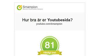 Mailrapport med statistik för Youtubesida